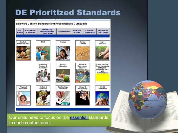 DE Prioritized Standards