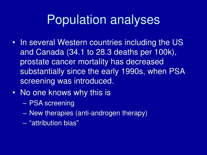 Population analyses