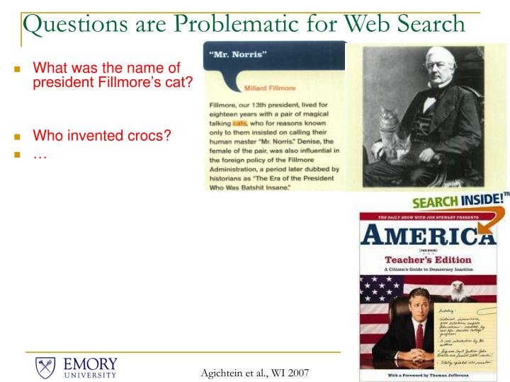 Questions are problematic for web search