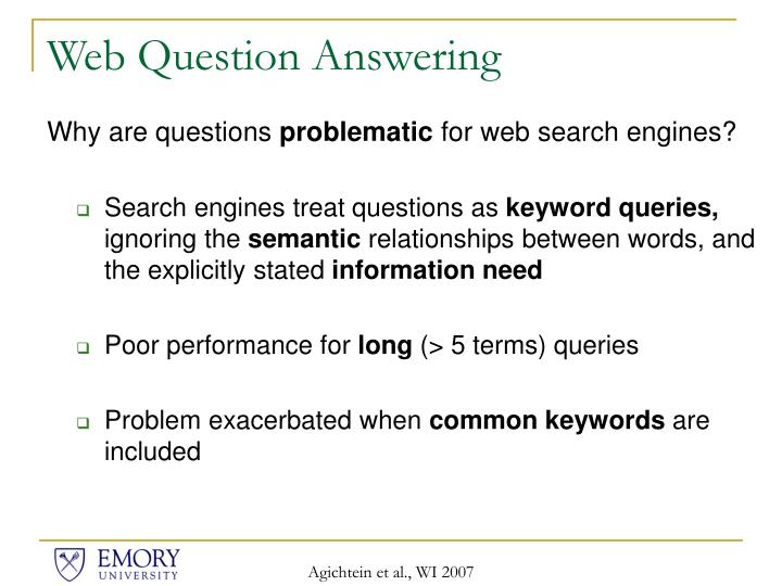 Web Question Answering