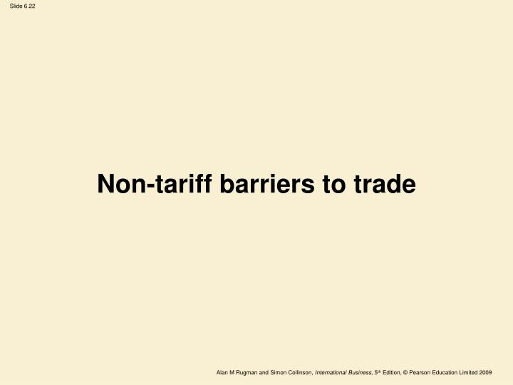 Non-tariff barriers to trade