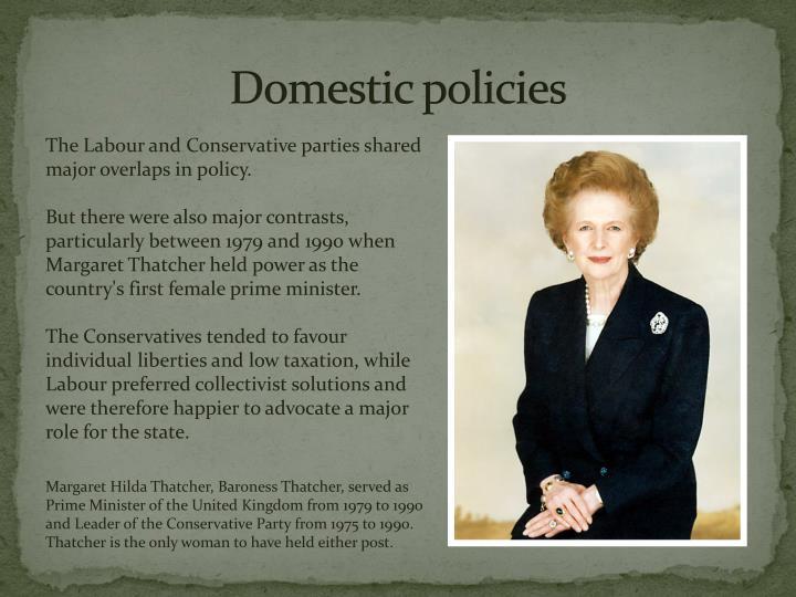 Domestic policies
