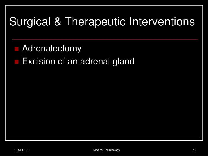 Surgical & Therapeutic Interventions