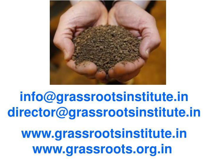 info@grassrootsinstitute.in