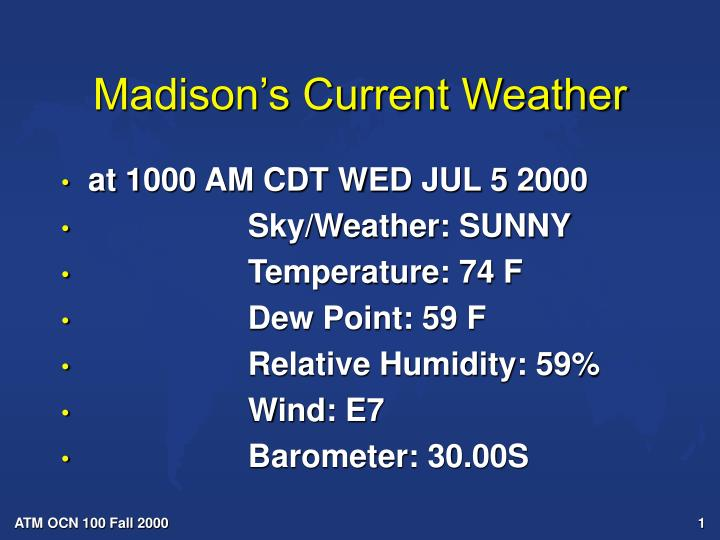 Madison s current weather