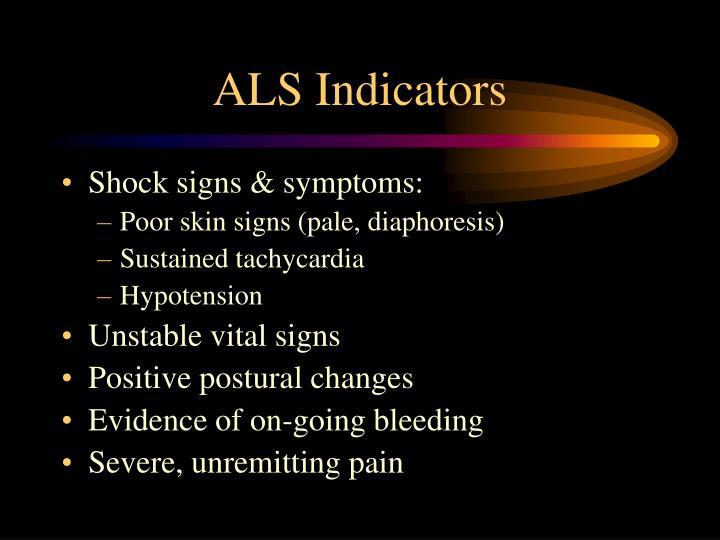 ALS Indicators
