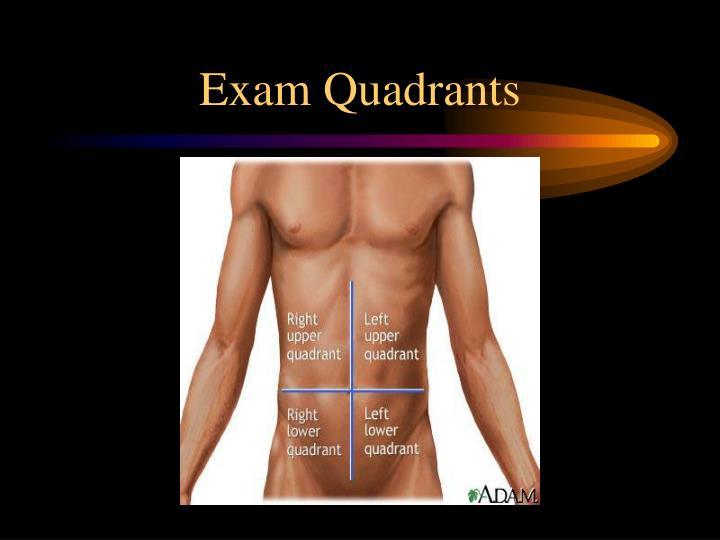 Exam Quadrants