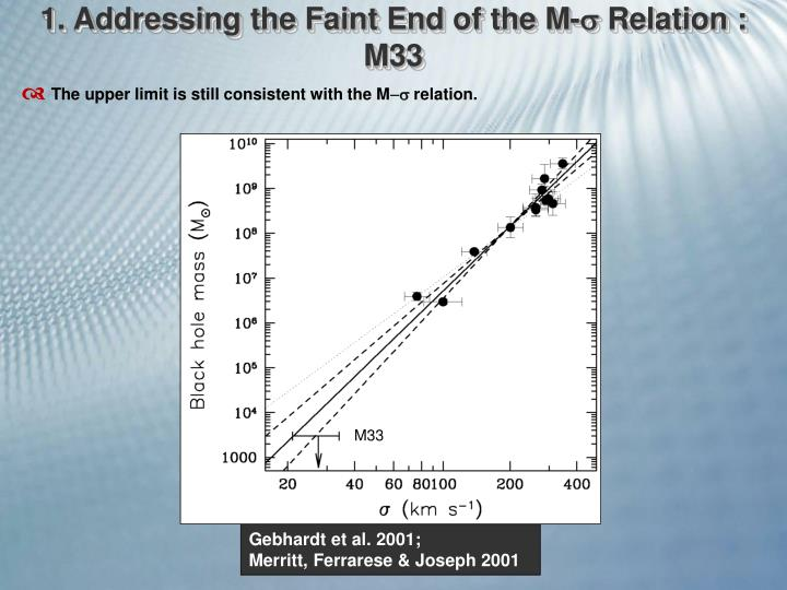1. Addressing the Faint End of the M-