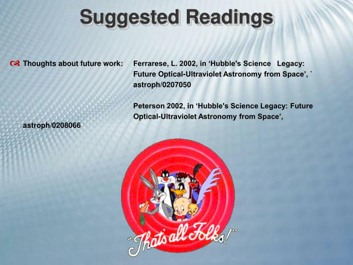 Suggested Readings