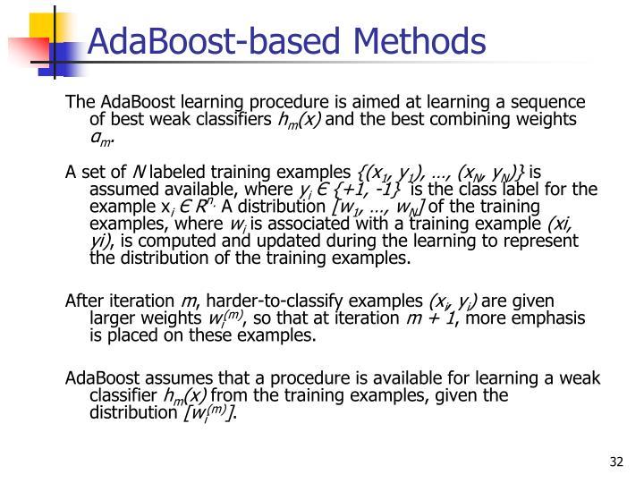 AdaBoost-based Methods