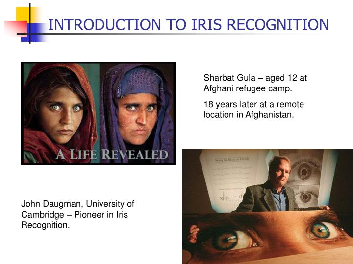 INTRODUCTION TO IRIS RECOGNITION