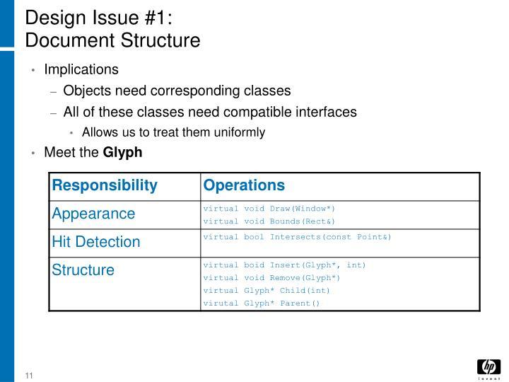Design Issue #1: