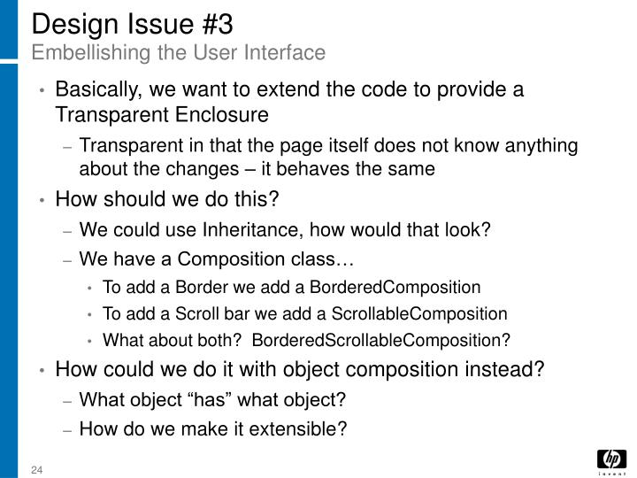 Design Issue #3