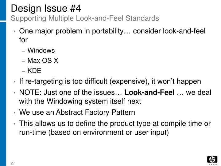 Design Issue #4