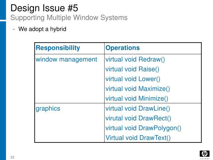 Design Issue #5