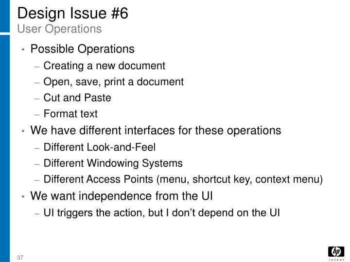 Design Issue #6