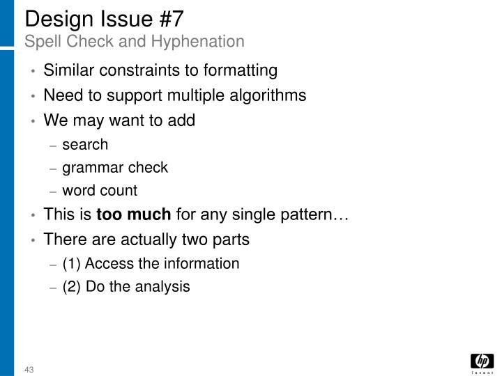 Design Issue #7