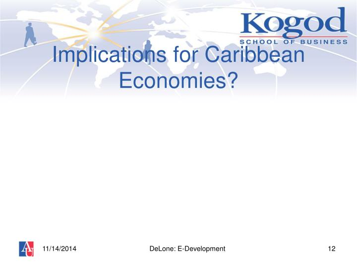 Implications for Caribbean Economies?