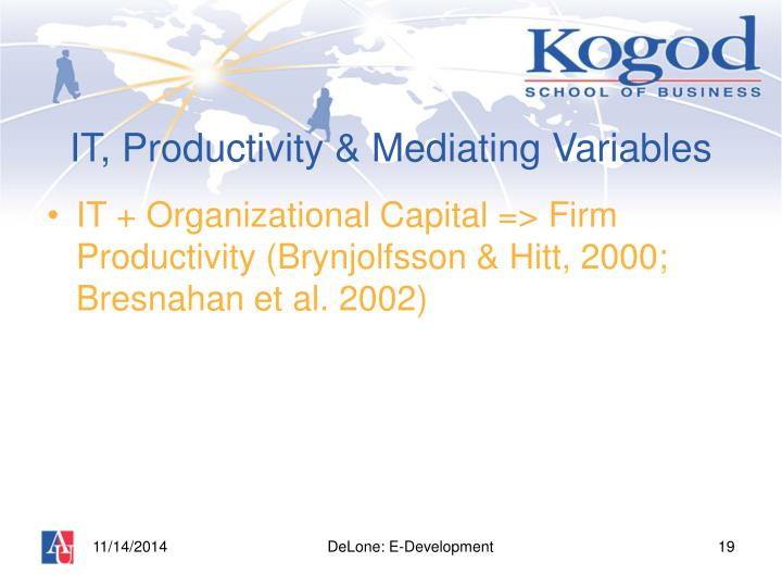 IT, Productivity & Mediating Variables