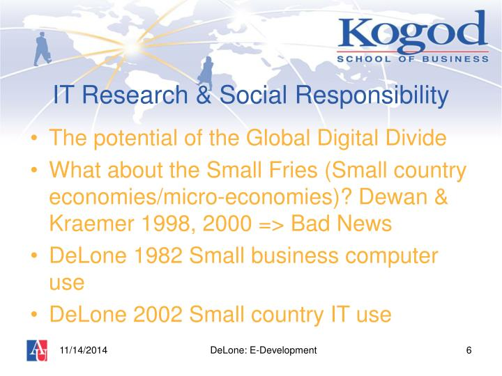IT Research & Social Responsibility
