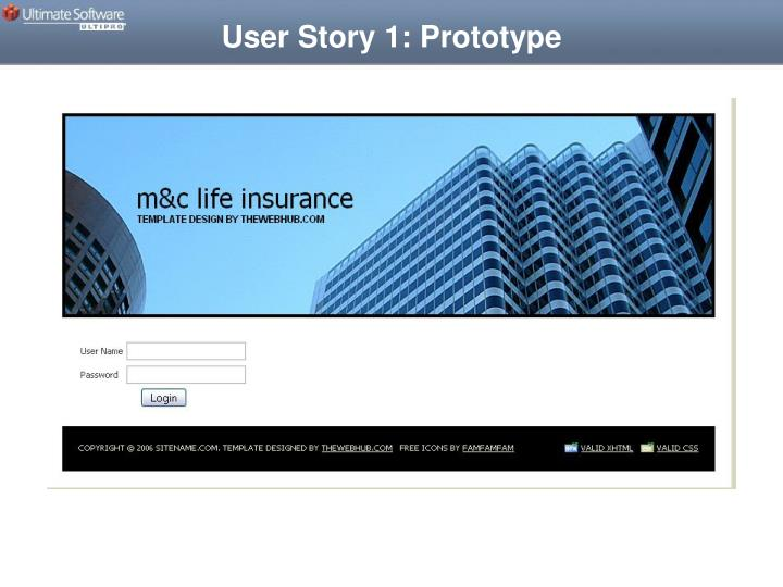 User Story 1: Prototype