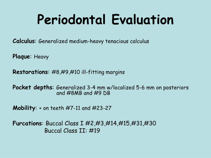 Periodontal Evaluation