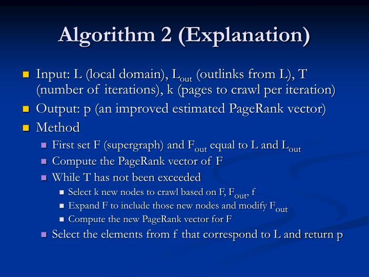 Algorithm 2 (Explanation)
