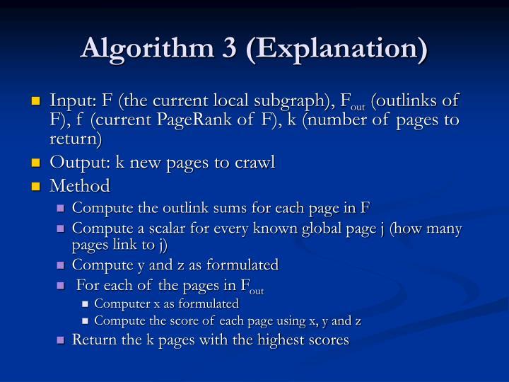 Algorithm 3 (Explanation)