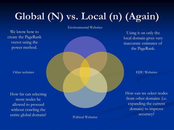 Global (N) vs. Local (n) (Again)