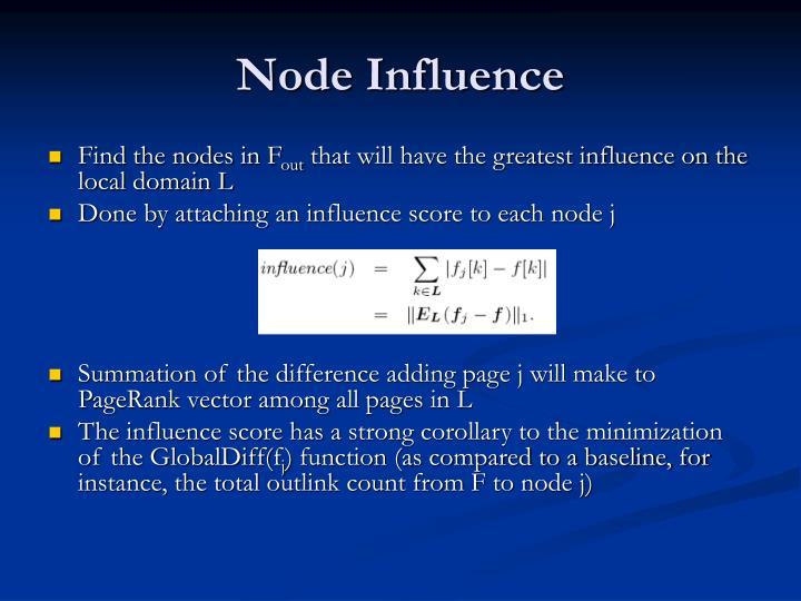 Node Influence