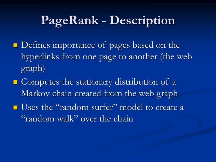 PageRank - Description