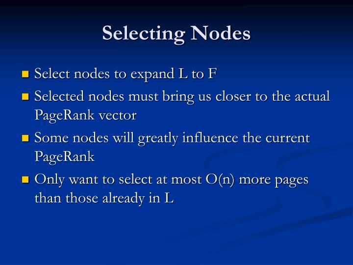 Selecting Nodes