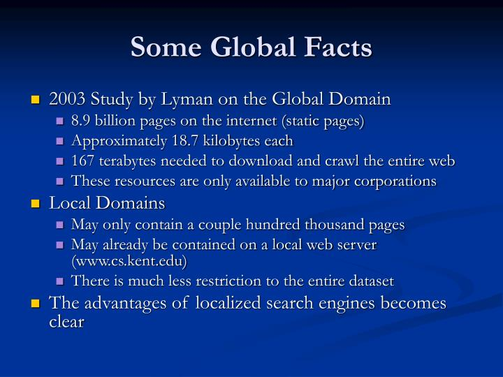 Some Global Facts