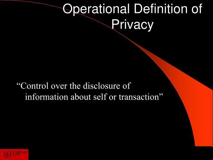 Operational Definition of Privacy