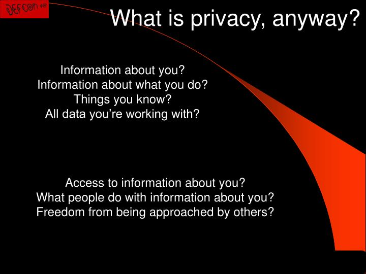 What is privacy, anyway?
