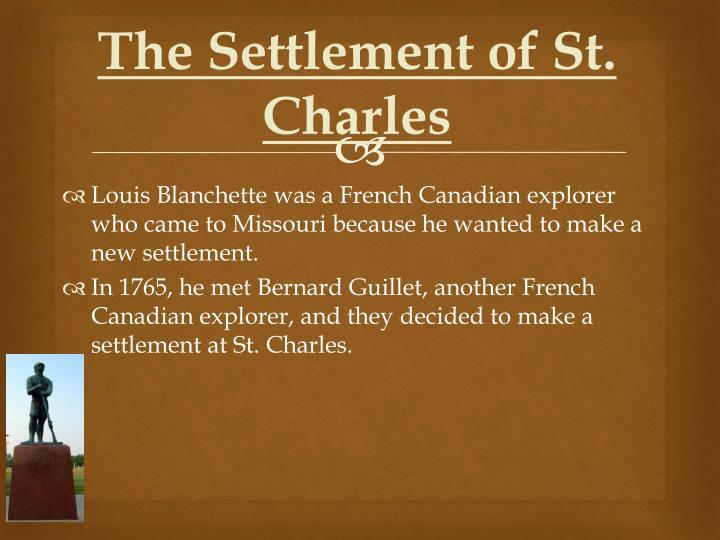 The Settlement of St. Charles