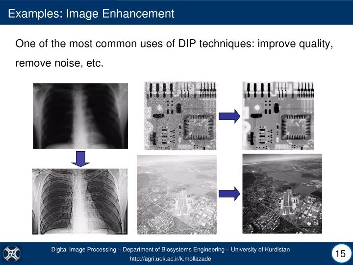 Examples: Image Enhancement