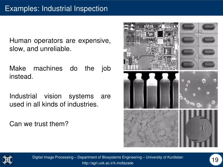 Examples: Industrial Inspection