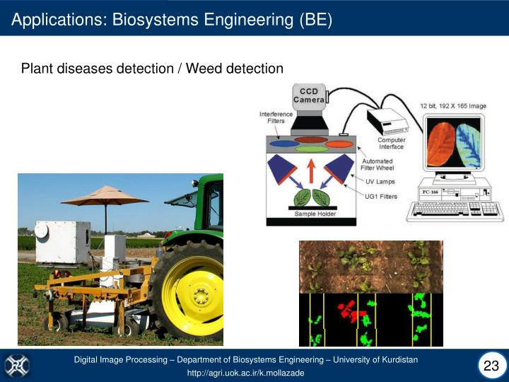 Applications: Biosystems Engineering (BE)