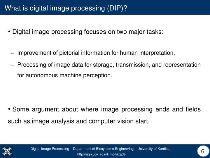 What is digital image processing (DIP)?