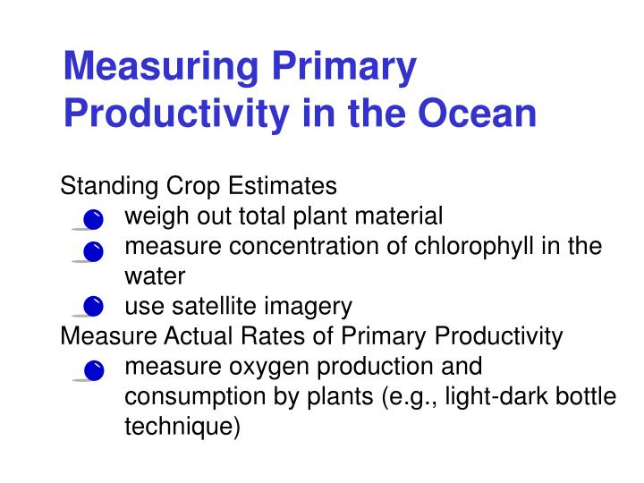 Measuring Primary Productivity in the Ocean
