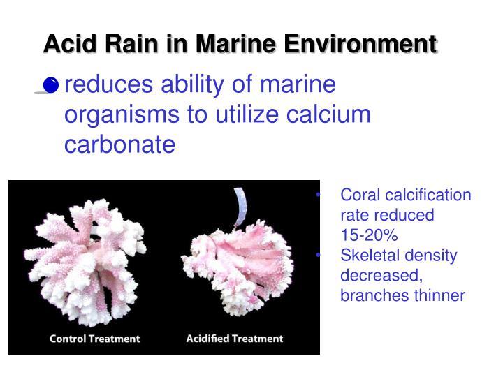 Acid Rain in Marine Environment