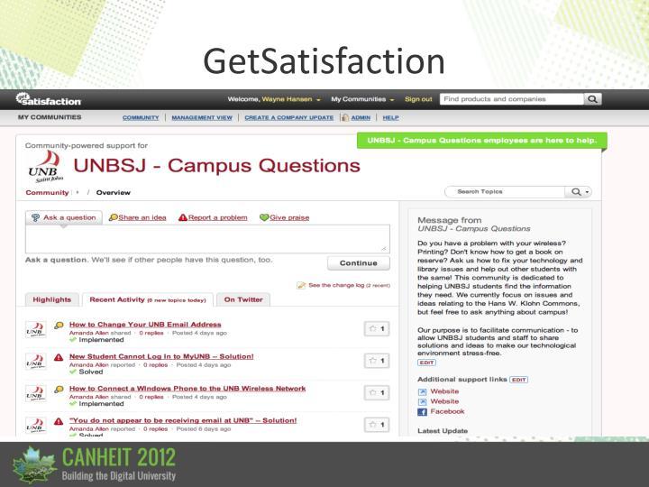 GetSatisfaction