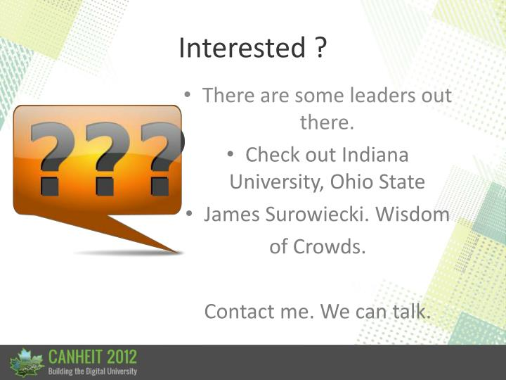 Interested ?