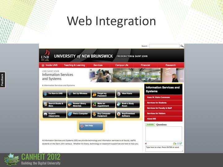 Web Integration