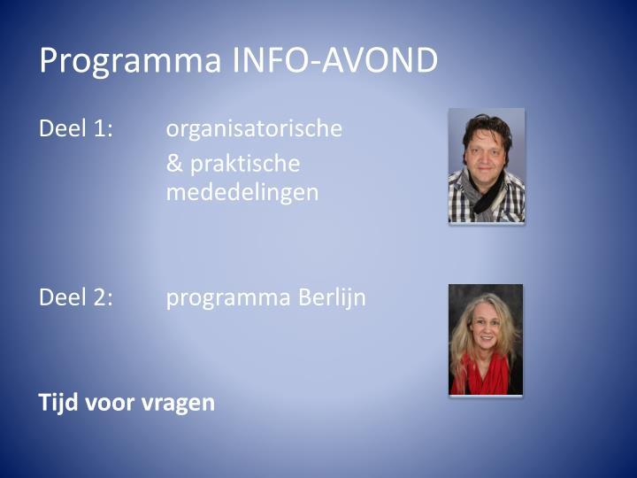 Programma INFO-AVOND