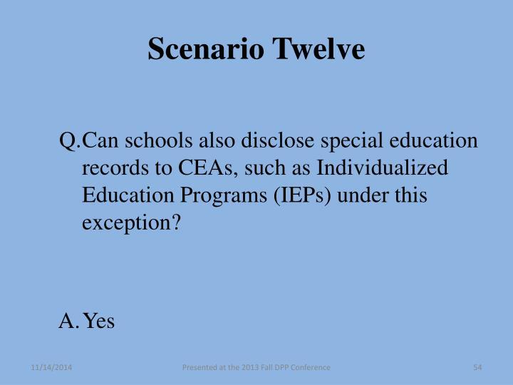 Scenario Twelve