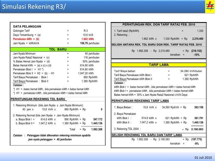 Simulasi Rekening R3/