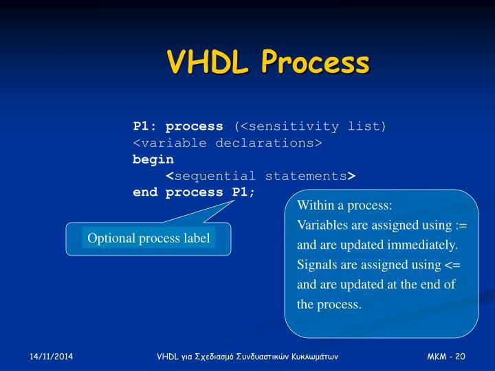 Optional process label