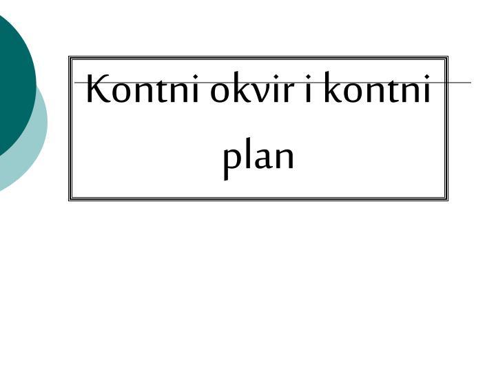 Kontni okvir i kontni plan